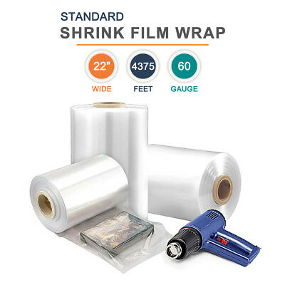 22 Polyolefin Shrink Film Heat Shrink Film Wrap 60 Gauge 4375ft 1 Roll