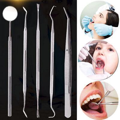 35 Pcs Handle Dental Tool Pick Scaler Mirror Set Stainless Steel Teeth Care
