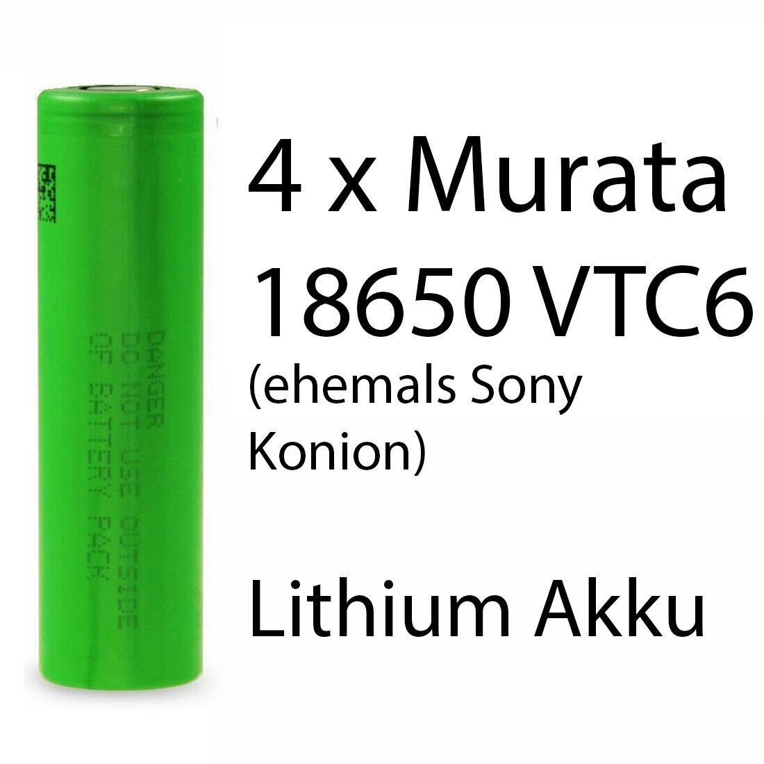3120mAh//3,7V//30A 2 VTC6 Akkus INR f/ür E-Zigarette Batterien Akku Dampfen