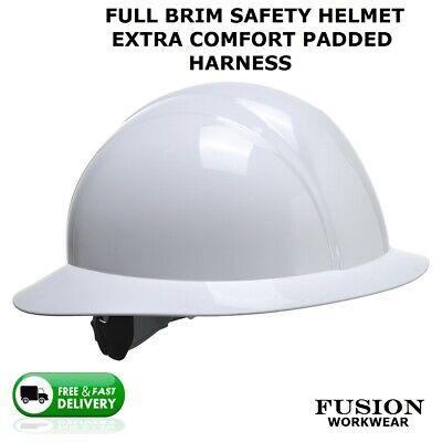 Safety Helmet Full Brim Extra Comfort American Construction Stylehard Hat Lid