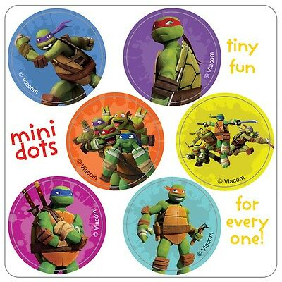 Teenage Mutant Ninja Turtles Stickers - 48 Dots - Birthday Party Supplies TMNT