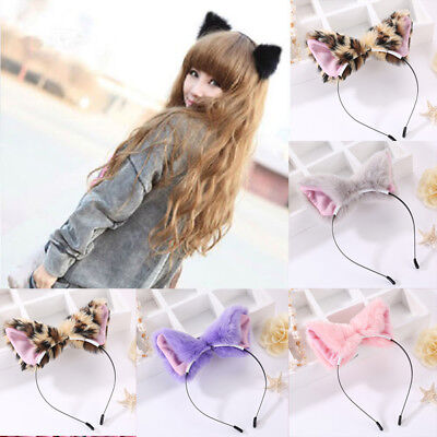 Girl Band Costumes (1 Pcs Cute Cat Ear Hairband Women Girl Head Band Plush Furry Hoop Costume)