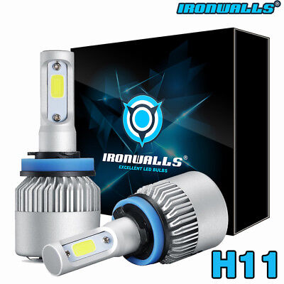 IRONWALLS H11 162000LM LED Headlight Kits Bulbs H9 H8 6000K VS HID 35W 55W Fog comprar usado  Enviando para Brazil