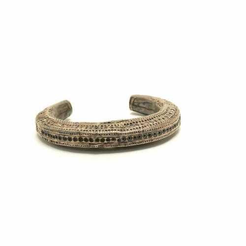 19th Century Silver Thai Akha Tribal Used Bracelet.