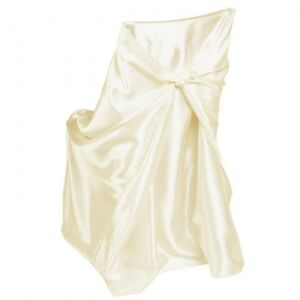Ivory Satin Chair Covers