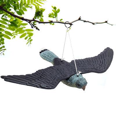 Fake Flying Hawk Bird Repellent Decoy Hanging Lifelike Predator Scarecrow