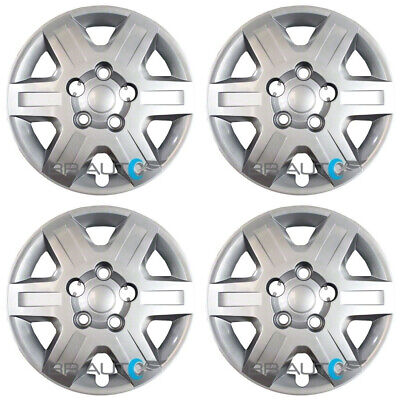 "4 NEW 16"" Silver Bolt On Hubcaps Rim Wheel Covers for 2008-2016 Caravan Journey"