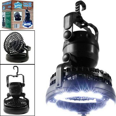 NEW Tent Light Fan Camping LED Lantern Portable Outdoor Hiking Gear Equipment