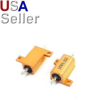 - 10W Watt Power Metal Shell Wirewound Resistor 0.1Ω ~ 500Ω ohm Class J R ±5%