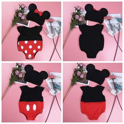 Infant Baby Boys Girls Mickey Mouse Baby Costume Cosplay Outfit Size 3-9 - Baby Cosplay