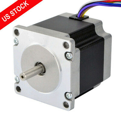 Us Ship Nema 23 Stepper Motor Dual Shaft 1.8deg 1.26nm 178.4oz.in 3a 8 Wires