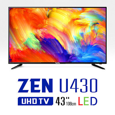 "WASABI MANGO New 43"" ZEN U430 Real 4K UHD TV 60Hz 3840x2160 HDMI LED TV Monitor for sale  Shipping to Canada"