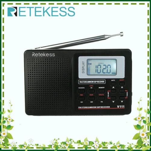 Retekess Portable AM/SW/FM Radio World Band Shortwave Receiv