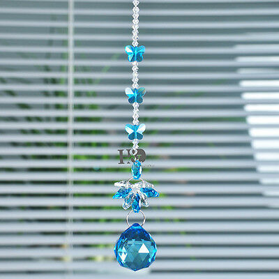 Home Decor Crystal Ball Suncatcher Prisms Pendant Hanging Drop Feng Shui Gift