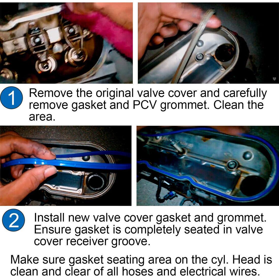 VS50504R1 VS50250A LE-JX Rubber Valve Cover Gasket Set with Grommets Compatible with 1999-2018 GMC Cadillac Chevy Pontiac Buick Hummer 4.8L//5.3L//6.0L//6.2L//7.0L Valve Covers