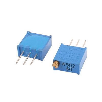 5 Pcs Potentiometer Trimmer Variable Resistor Resistive 3296 W502 5k Ohm