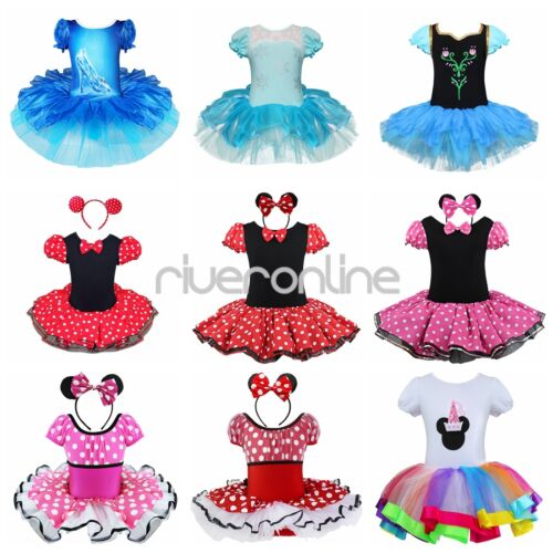 minnie mouse kost m m dchen kleid tutu ballettanzug party mit ohren gr 80 140 ebay. Black Bedroom Furniture Sets. Home Design Ideas