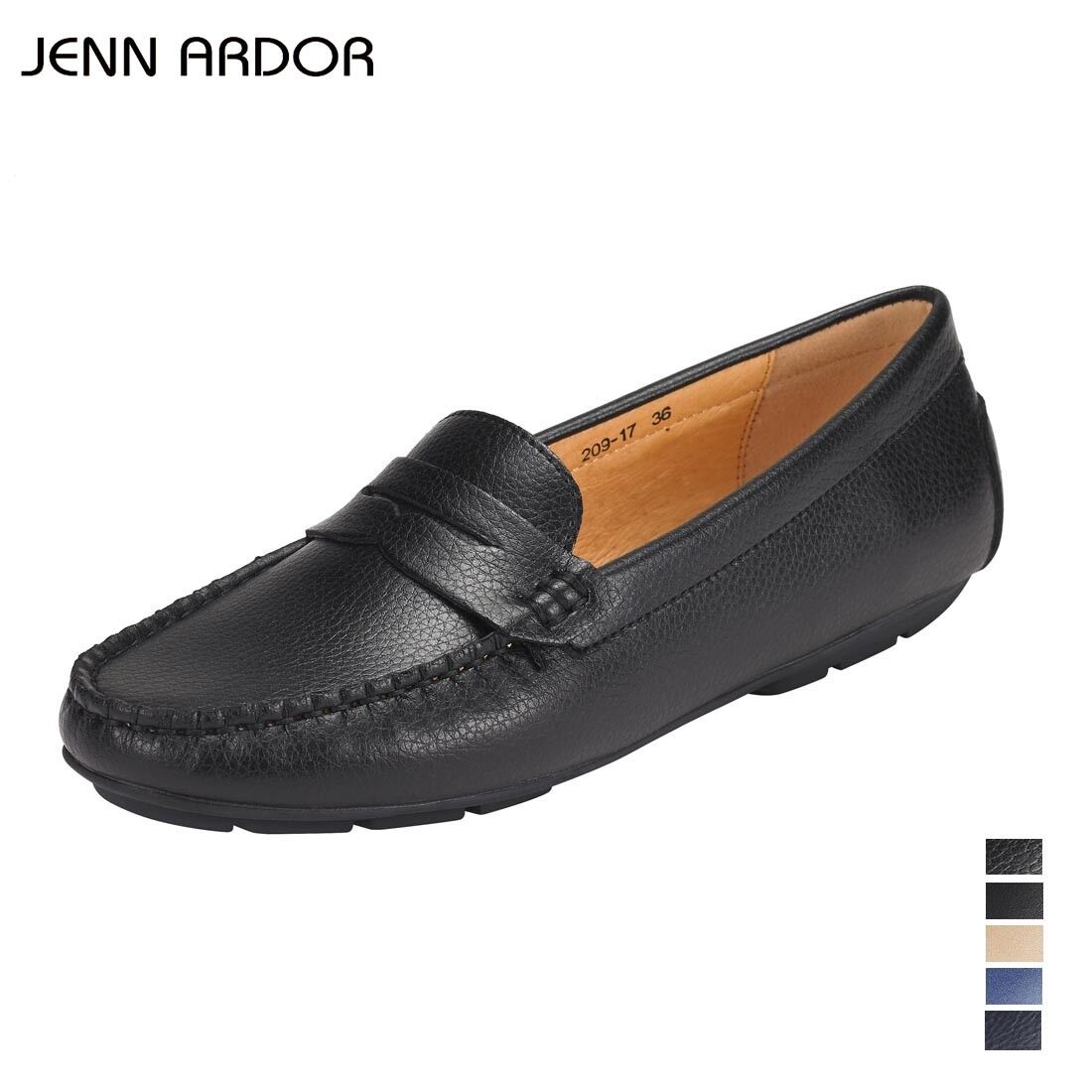 JENN ARDOR Penny Loafers for Women Vegan Leather Slip-On ...