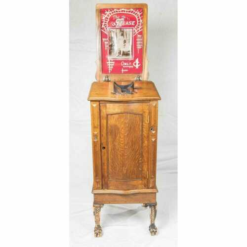 Antique Mills Muto- Coin operated 3D Card Photo Viewing Machine Circa 1905