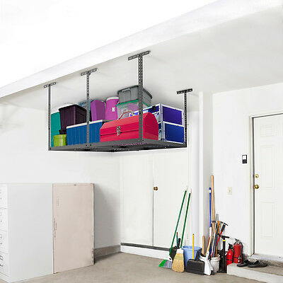FLEXIMOUNTS 4'x4' (2'x8') Heavy Duty Overhead Garage Adjustable Ceiling Storage