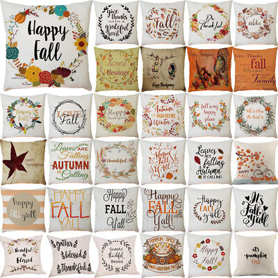 Happy Thanksgiving Pillow Case Home Car Decor Square Cushion Pillow Cover NEW](Thanksgiving Home Decorations)