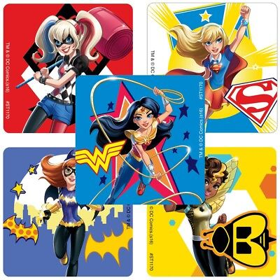 20 DC Super Hero Girls STICKERS Party Favors Supplies for Birthday Loot - Girls Superhero Party Supplies