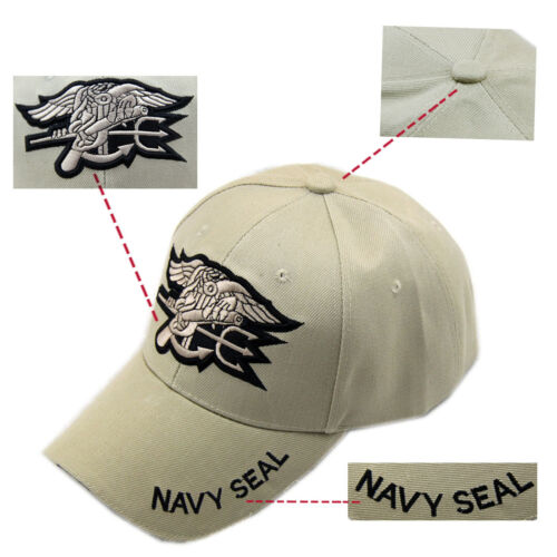 New Fashion Khaki Hats Military Embroidered Us Navy Seal
