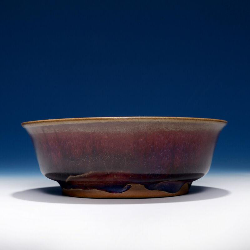 Nice Chinese Porcelain Dish Qing Dynasty Plate Glaze Jun Kiln Brush Washer SA148