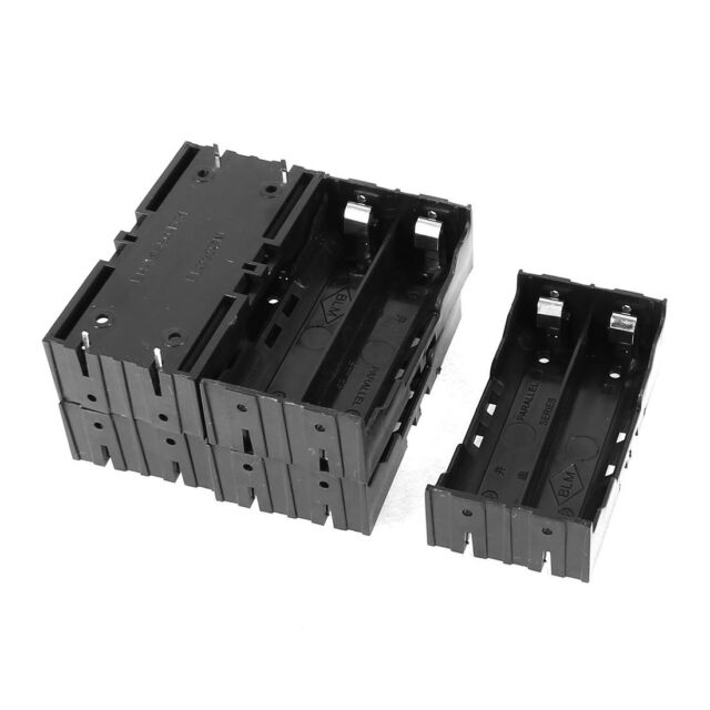 5 Pcs Plastic 2 x 3.7V 18650 Batteries 4 Pin Battery Holder Case SY