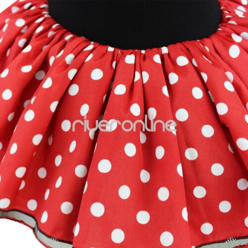 Girls Kids Toddler Baby Minie Mouse Fancy Dress UP Outfit Costume Ears sz 12M-8Y