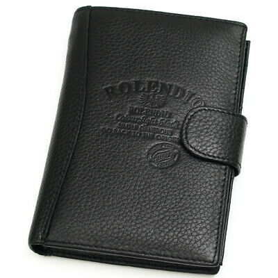 Black Leather Passport Wallet Case Holder Cover Travel Clutch Coin Purse