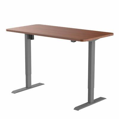 Flexispot Electric Height Adjustable Desk Gray Frame 48 In Mahogany Top