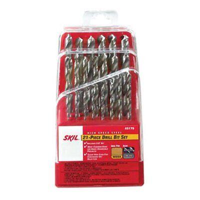 SKIL 45175 High-Speed Steel Drill Bit Set, 21 Piece
