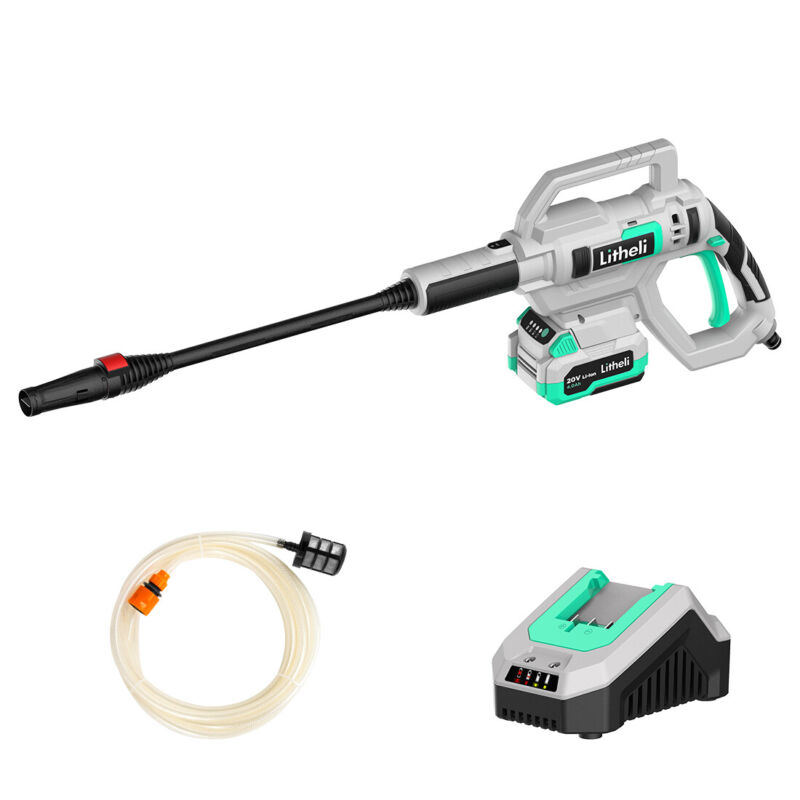 Litheli 20V Cordless Pressure Washer Power Washer with 4.0Ah Battery & Charger