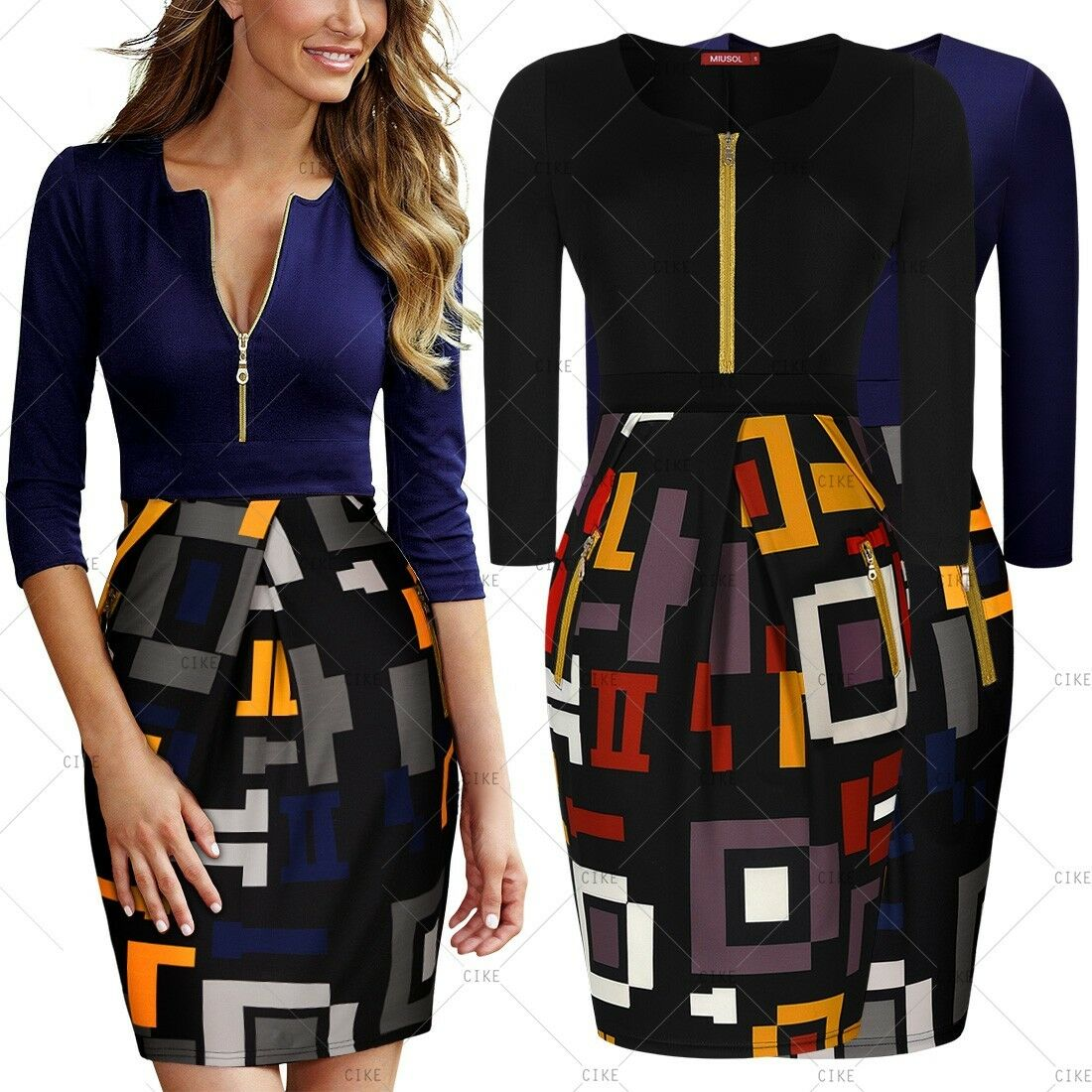 MIUSOL Women/'s Vintage Style Belted Retro Dresses Size XL RRP£59.99 401