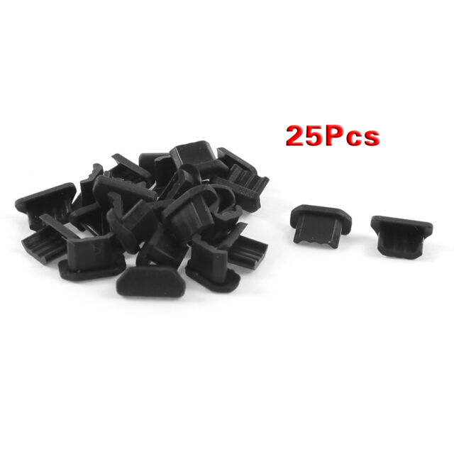 25 Pcs Anti Dust Soft Plastic Dock Cover Micro USB Port Ear Jack SY D1H3 A0Y5