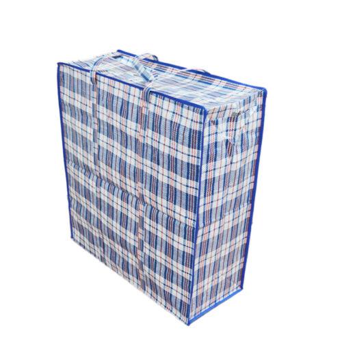 Reusable Large Jumbo Shopping Laundry Moving Storage Luggage Bag Zip Top Quality