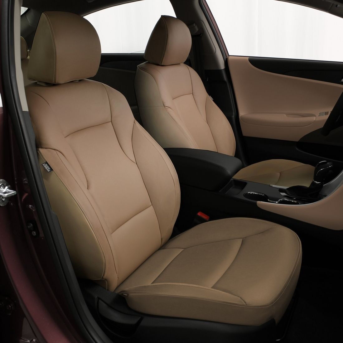 Details About Katzkin Tan Leather Replacement Seat Covers Fits 2017 Hyundai Sonata Gls Se