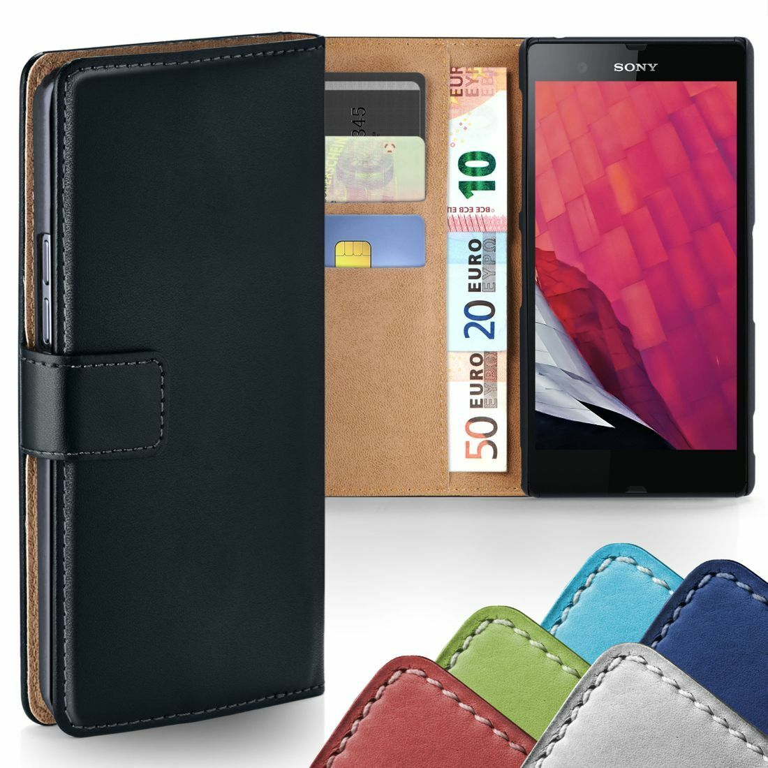 360 Grad Schutz Hülle für Sony Xperia Z Etui Klapp Hülle Komplett Full Book Case