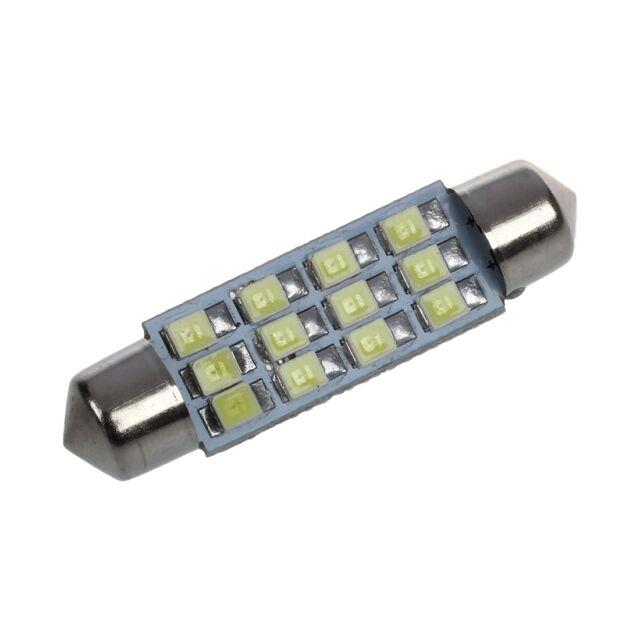 5x(42mm 12 SMD 3528 LED White Car Interior c5w Dome Festoon Bulb Light Lamp) SP