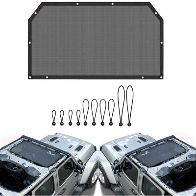 Eclipse Mesh Shade Soft Top Cover Roof Sunshade For Jeep Wrangler JL Accessories