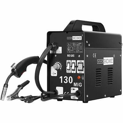 Vivohome 110v Mig 130 Welder Flux Core Wire Automatic Feed Welding Machine Kits