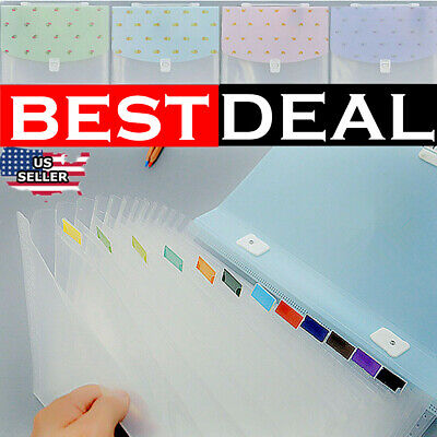 A4 Printer Paper Letter Expanding File Folder Document Organizer Bags Pocket Us