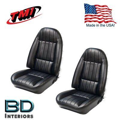 1978 - 81 Chevy Camaro Black Front Bucket Seat Upholstery Set TMI IN (Chevrolet Camaro Seat Upholstery)