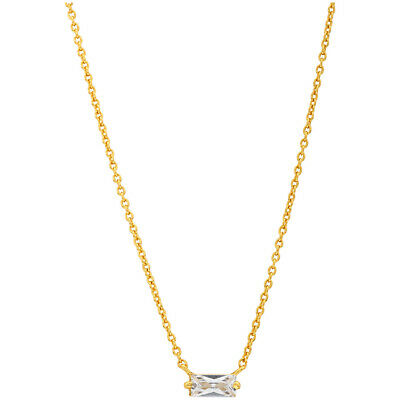 Gorjana Amara Crystal Solitaire Pendant Gold 14 inches Necklace 181111402G