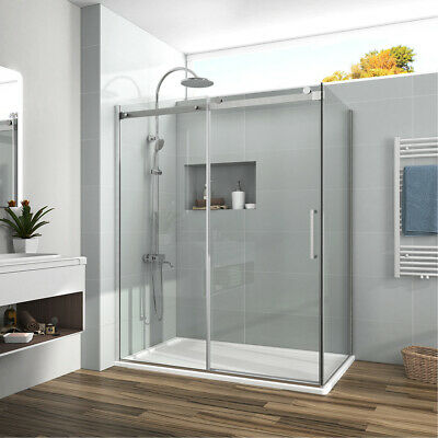 "48""x36''x72"" Frameless Sliding Shower Door Enclosure Side Panel 5/16'' Glass"