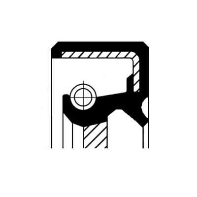 Wellendichtring Simmering Kurbelwelle CORTECO (19016600B)