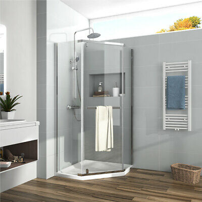 1/4'' Bath Neo Angle Framed Pivot Corner Shower Enclosure Chrome Safety Glass