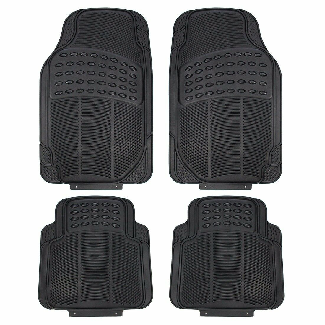 Universal Rubber 4pc Car Floor Mat Rug Rugs Full Set