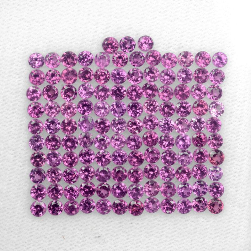 AMAZING SET! 10ct. Best 100%Natural Purple Pink Rhodolite Garnet Round 2.7mm#18